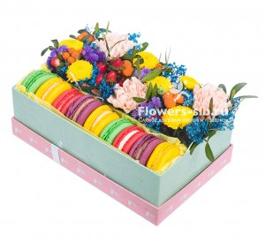 A box with macaroons